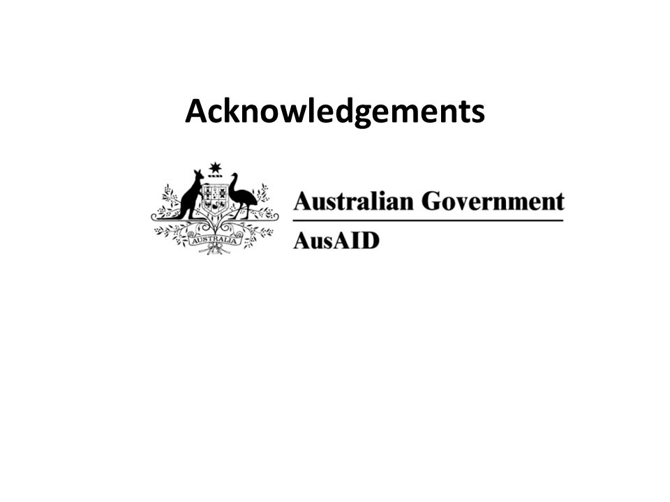 Acknowledgements Many