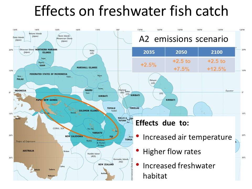 Effects on freshwater fish catch