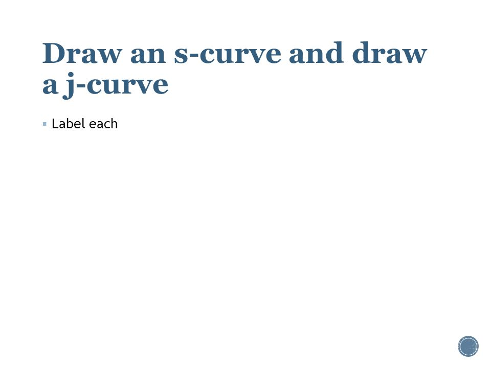 Draw an s-curve and draw a j-curve