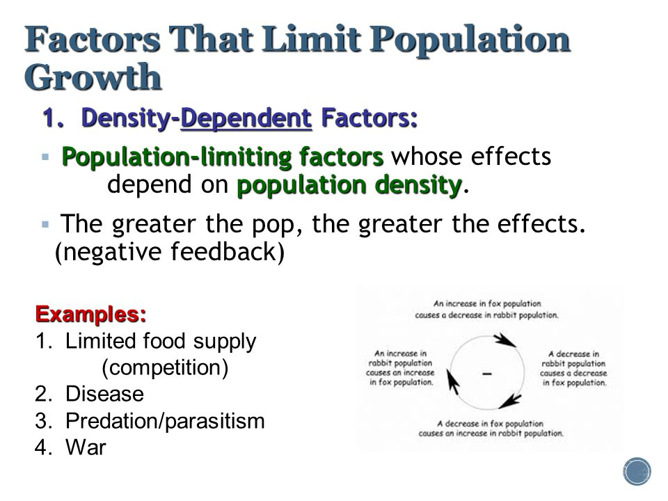Factors That Limit Population Growth