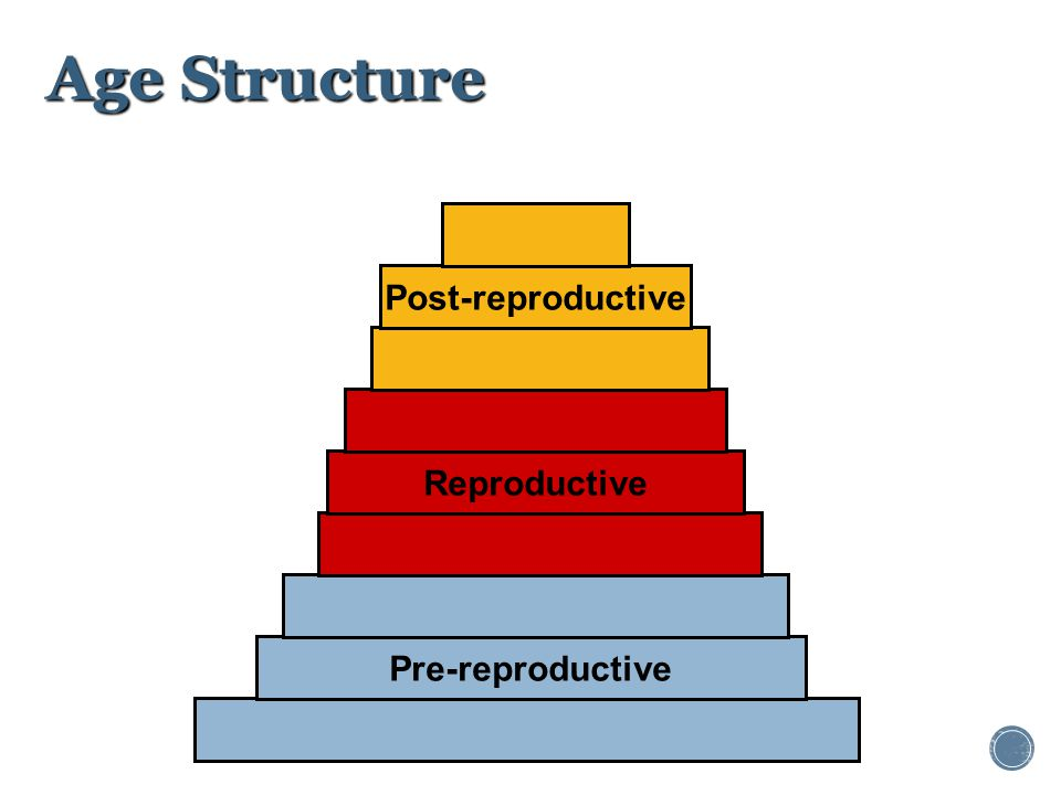Age Structure Post-reproductive Reproductive Pre-reproductive