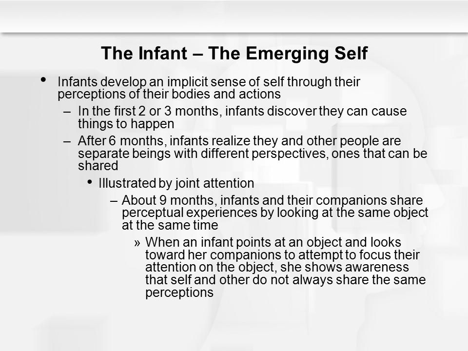 The Infant – The Emerging Self
