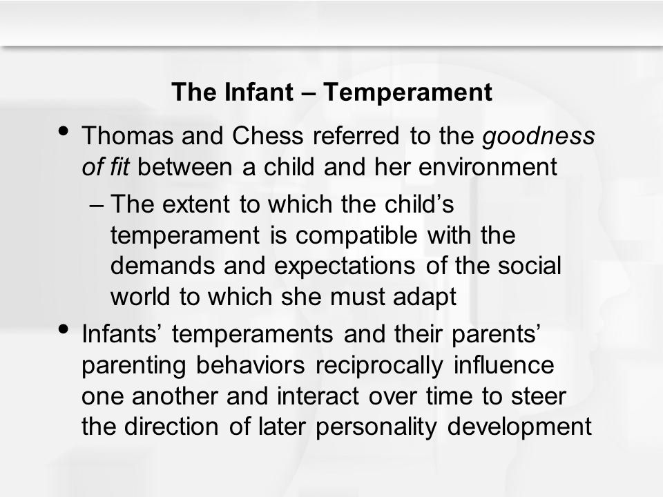 The Infant – Temperament