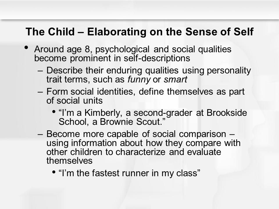 The Child – Elaborating on the Sense of Self