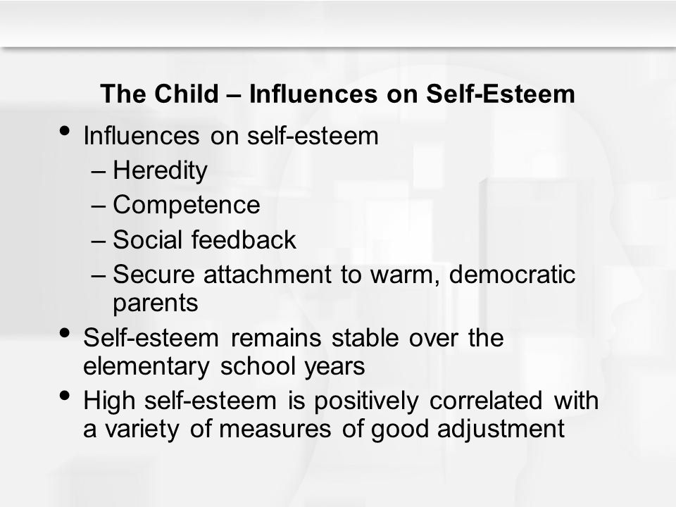 The Child – Influences on Self-Esteem