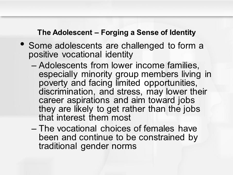 The Adolescent – Forging a Sense of Identity