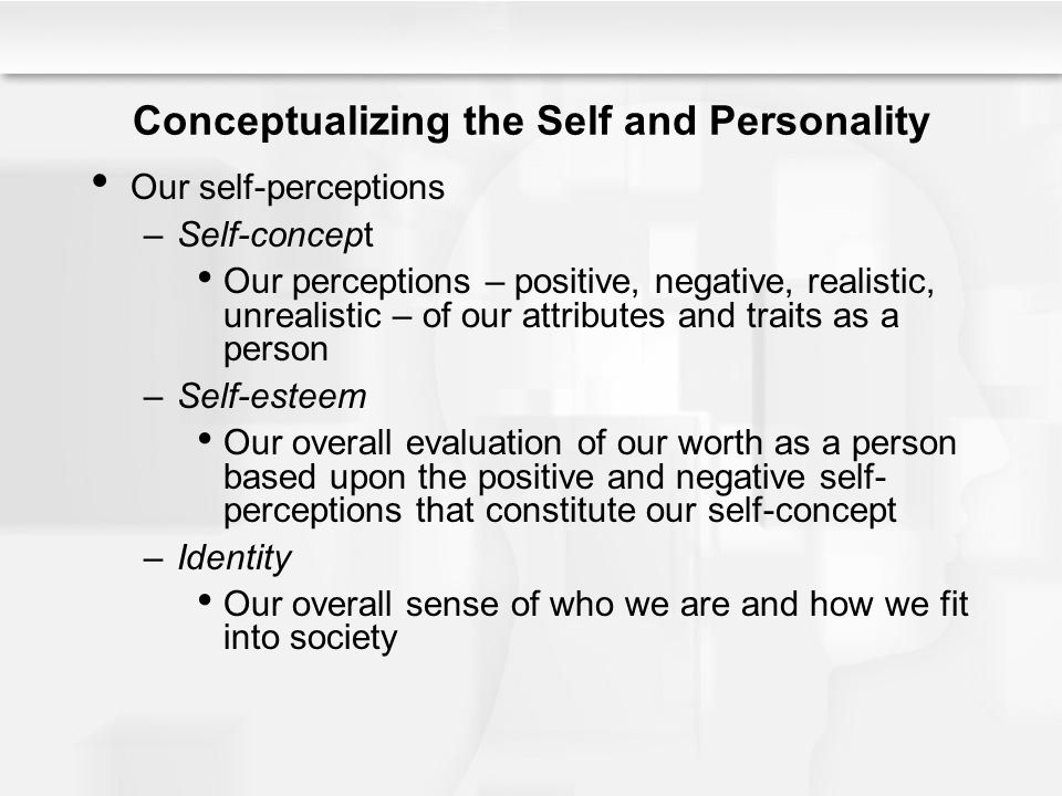 Conceptualizing the Self and Personality