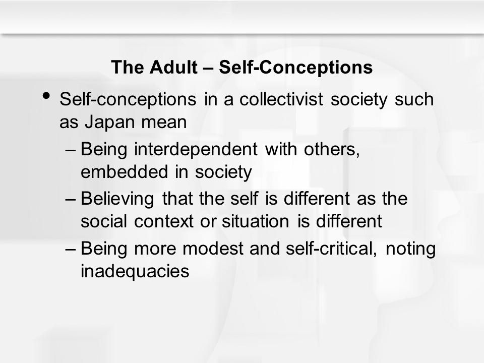 The Adult – Self-Conceptions