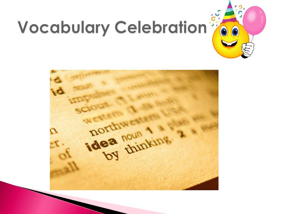 Vocabulary Celebration