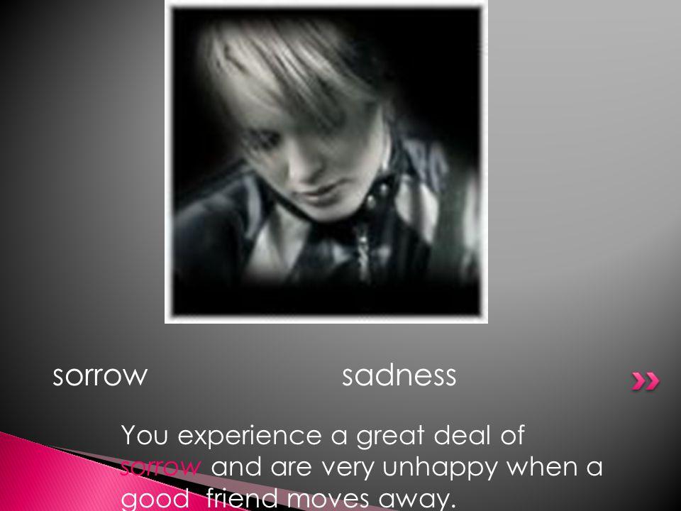 sorrow sadness.