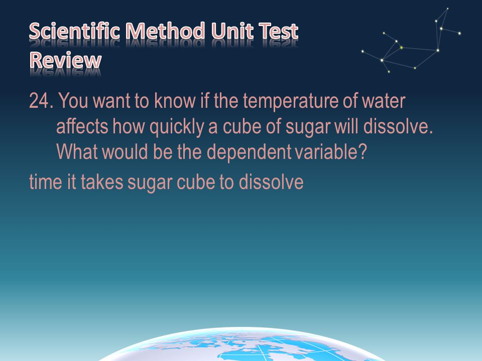 Scientific Method Unit Test Review
