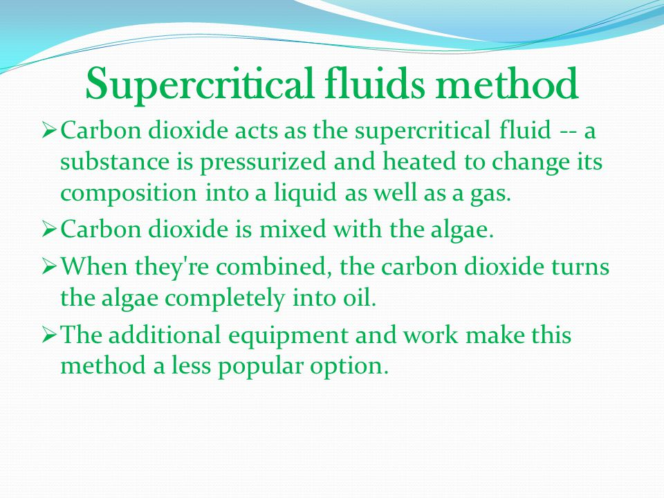 Supercritical fluids method