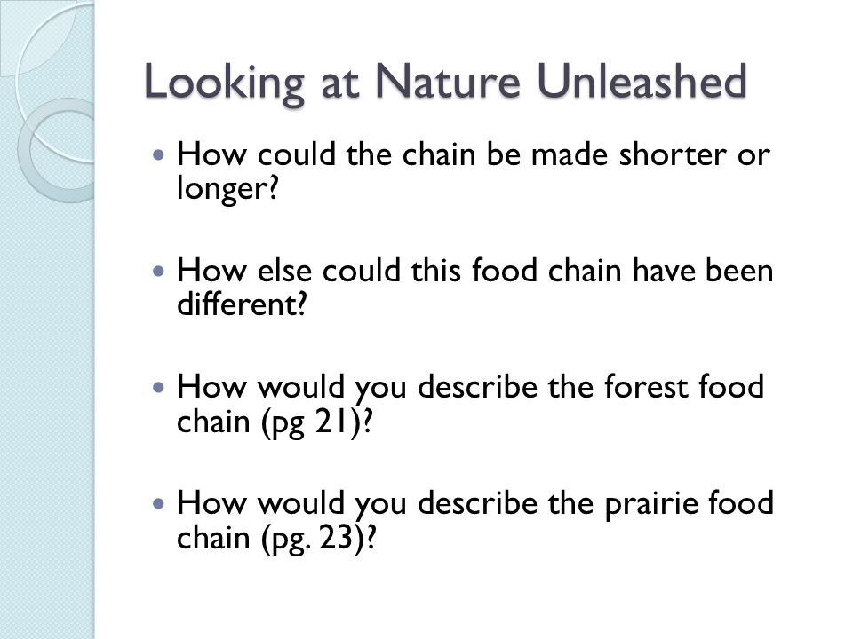 Looking at Nature Unleashed