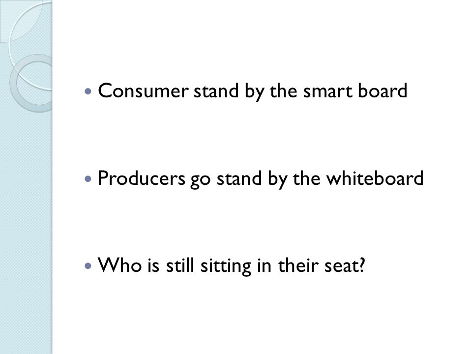 Consumer stand by the smart board