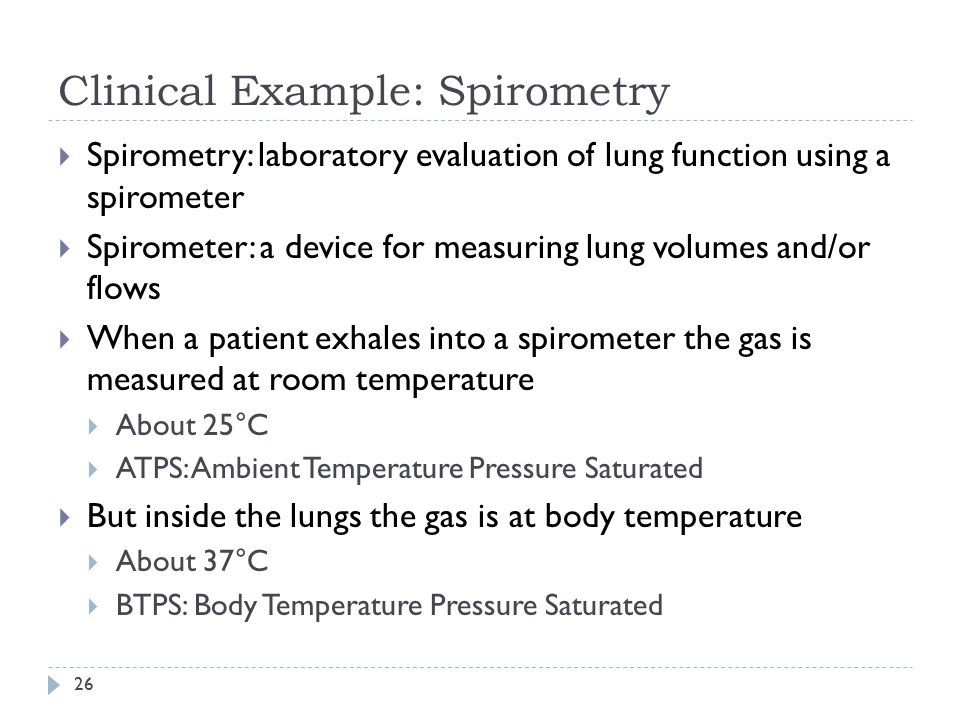 Clinical Example: Spirometry