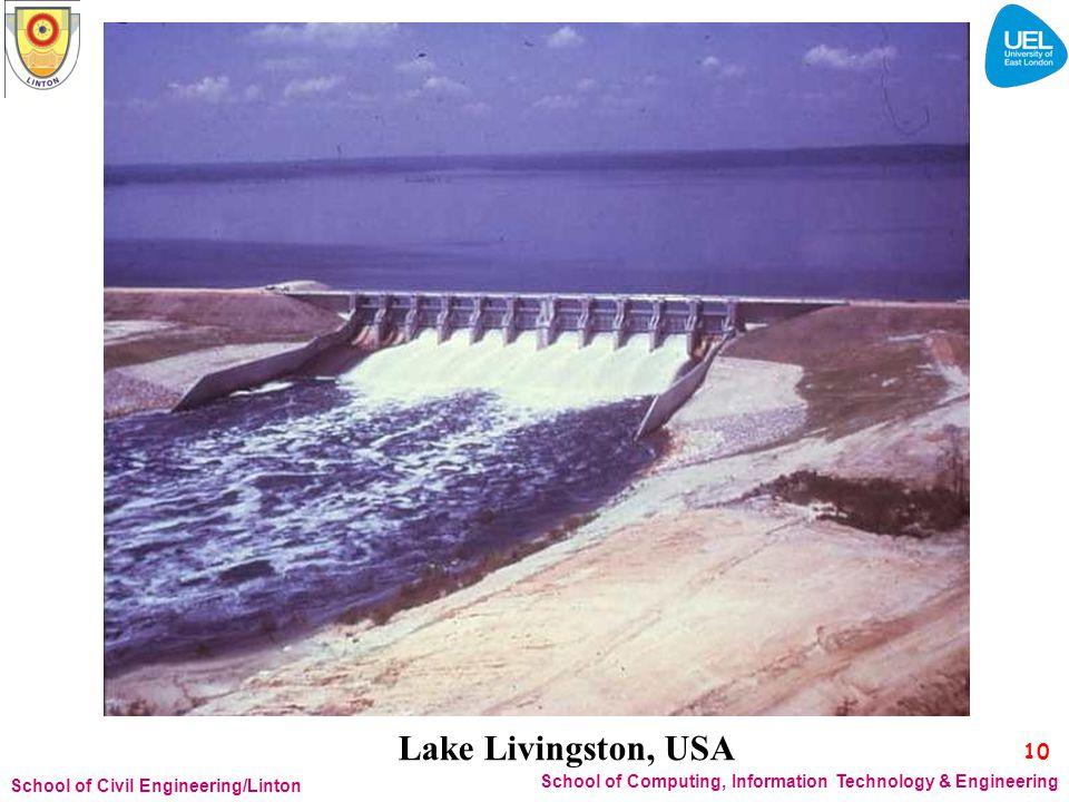 Lake Livingston, USA 10. School of Civil Engineering/Linton.
