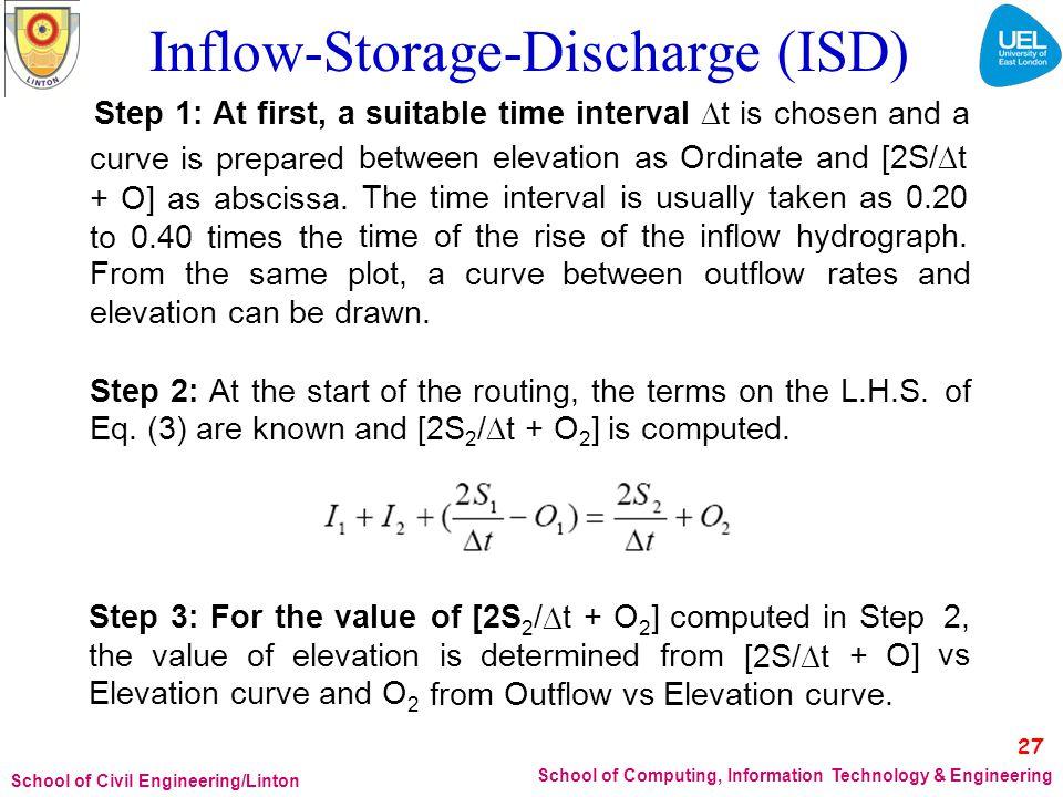 Inflow-Storage-Discharge (ISD)