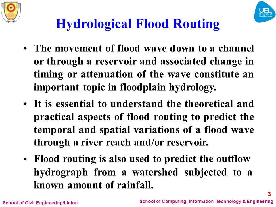 Hydrological Flood Routing