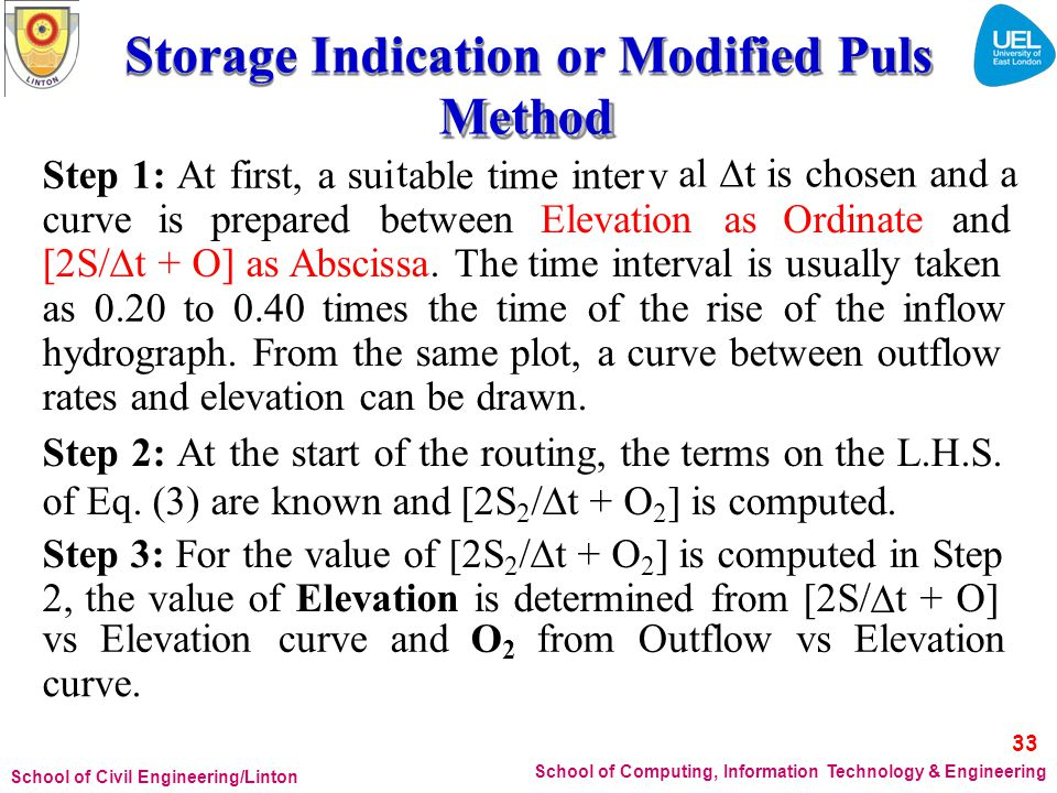 Storage Indication or Modified Puls