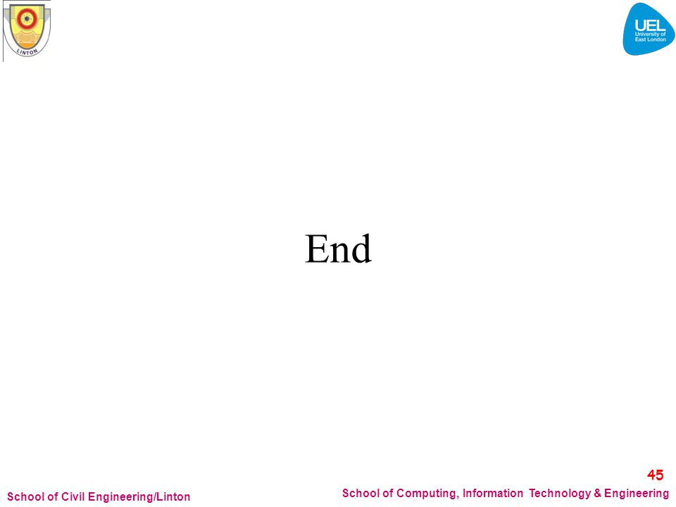 End 45 School of Computing, Information Technology & Engineering