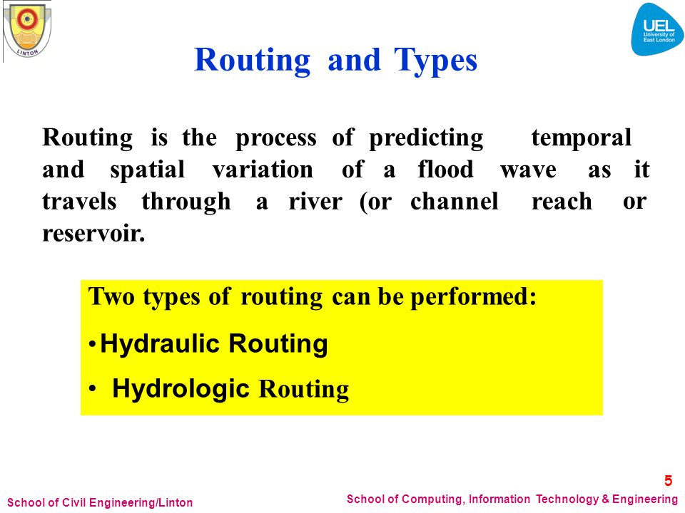 or Routing and Types Routing is the process of predicting temporal and