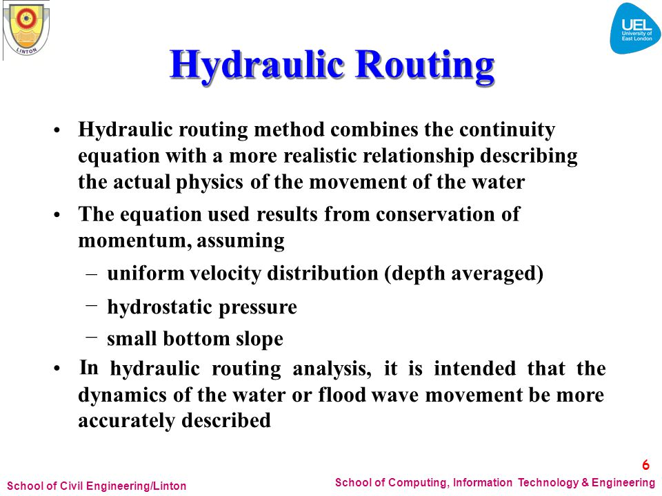 Hydraulic Routing