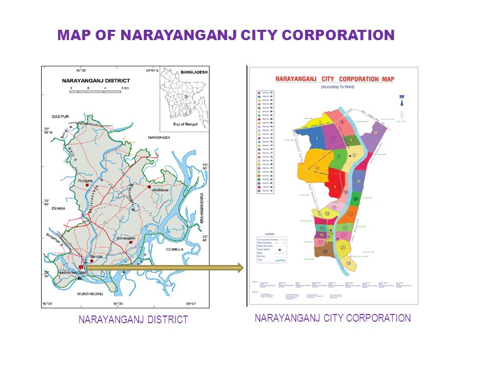 MAP OF NARAYANGANJ CITY CORPORATION