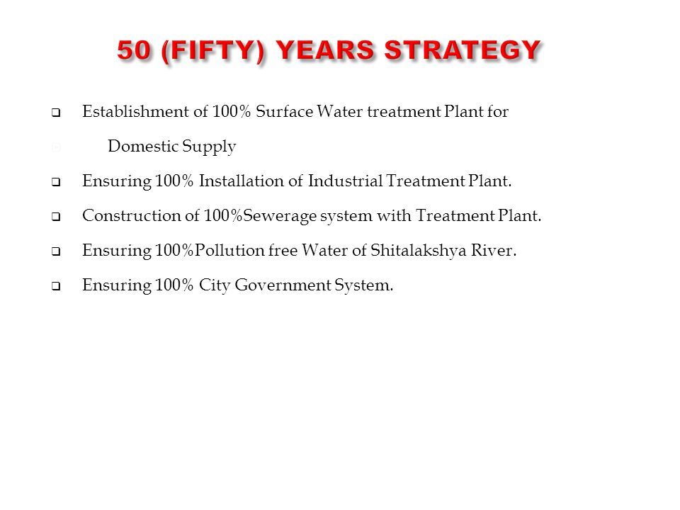 50 (FIFTY) Years STRATEGY