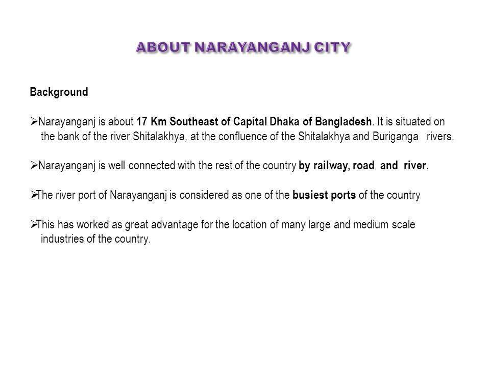 About narayanganj City