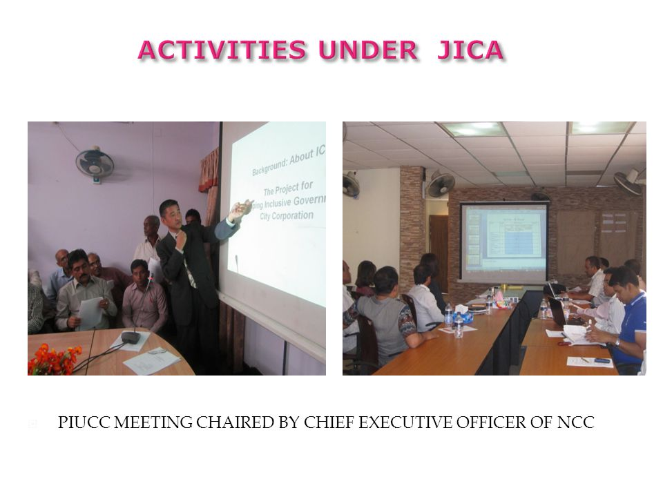 ACTIVITIES under JICA PIUCC MEETING CHAIRED BY CHIEF EXECUTIVE OFFICER OF NCC