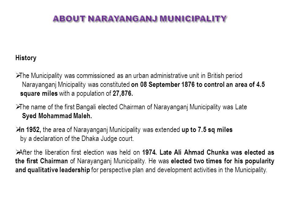 About narayanganj MUNICIPALITY