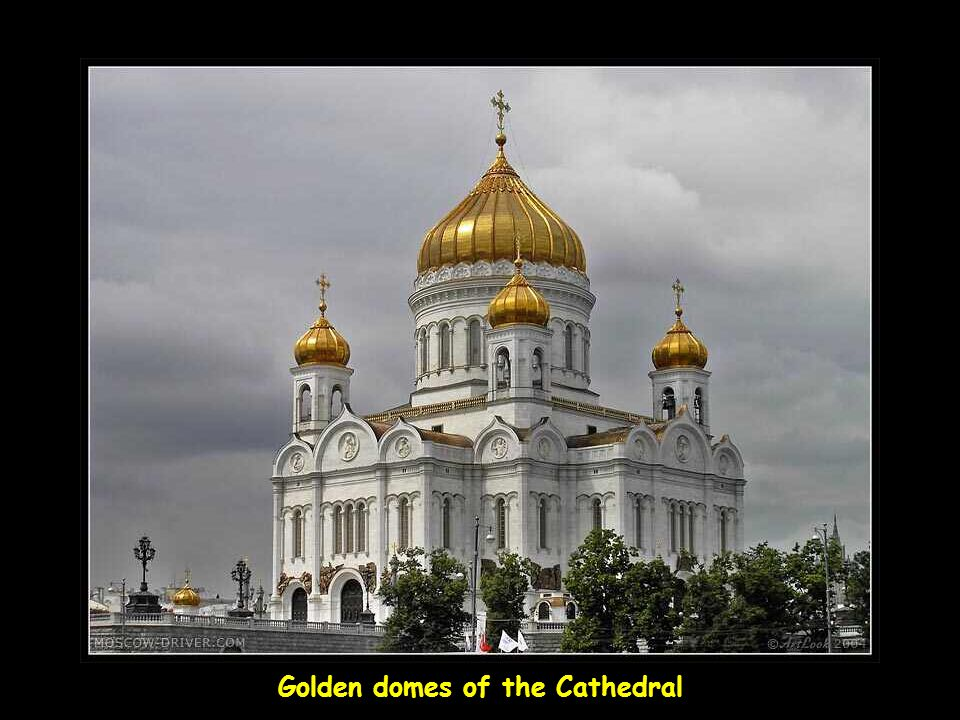 Golden domes of the Cathedral