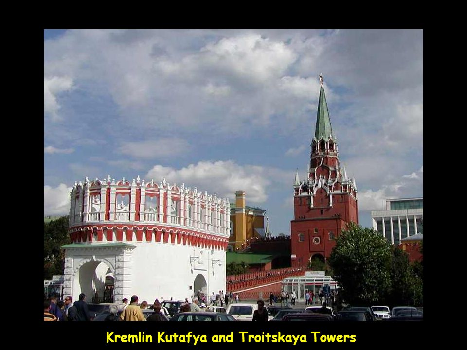 Kremlin Kutafya and Troitskaya Towers
