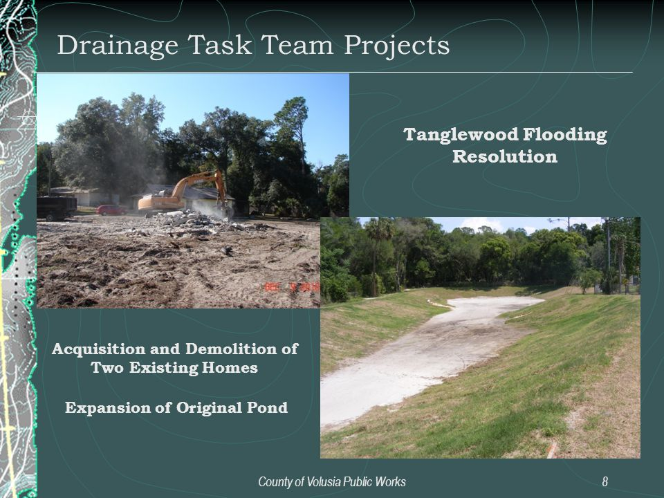 Drainage Task Team Projects