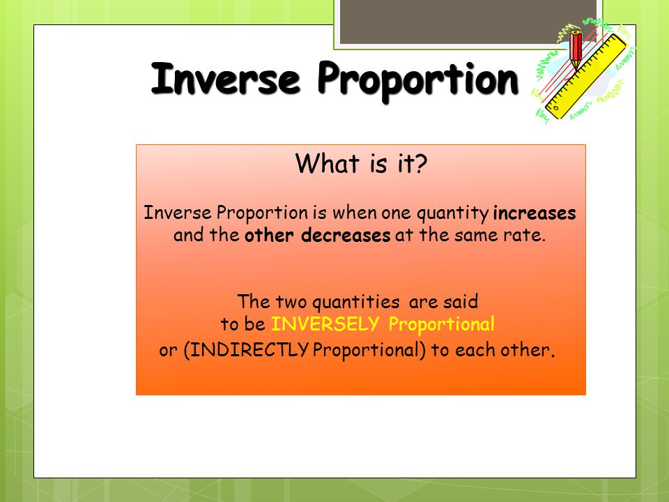 Inverse Proportion What is it