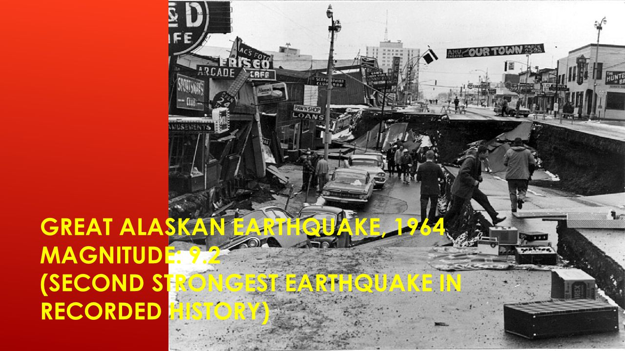 Great Alaskan Earthquake, 1964 Magnitude: 9
