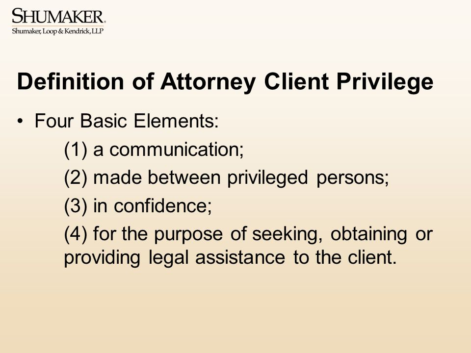 Definition of Attorney Client Privilege