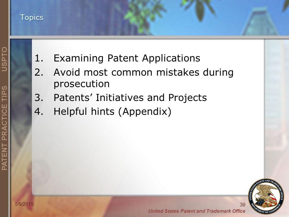 Examining Patent Applications