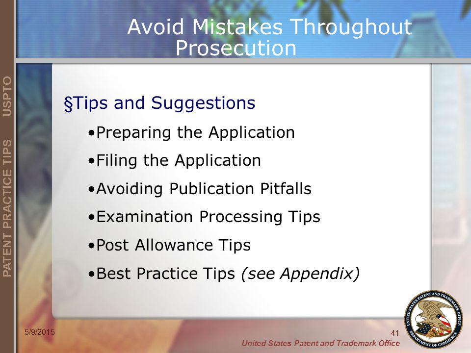 Avoid Mistakes Throughout Prosecution