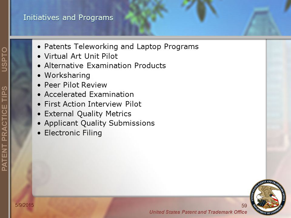 Initiatives and Programs