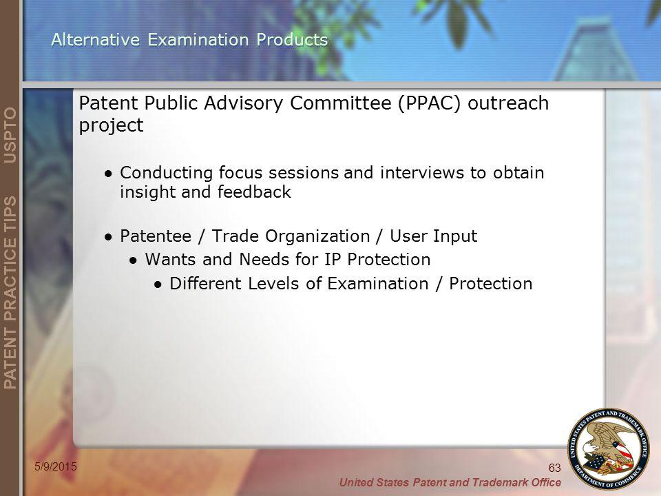 Alternative Examination Products