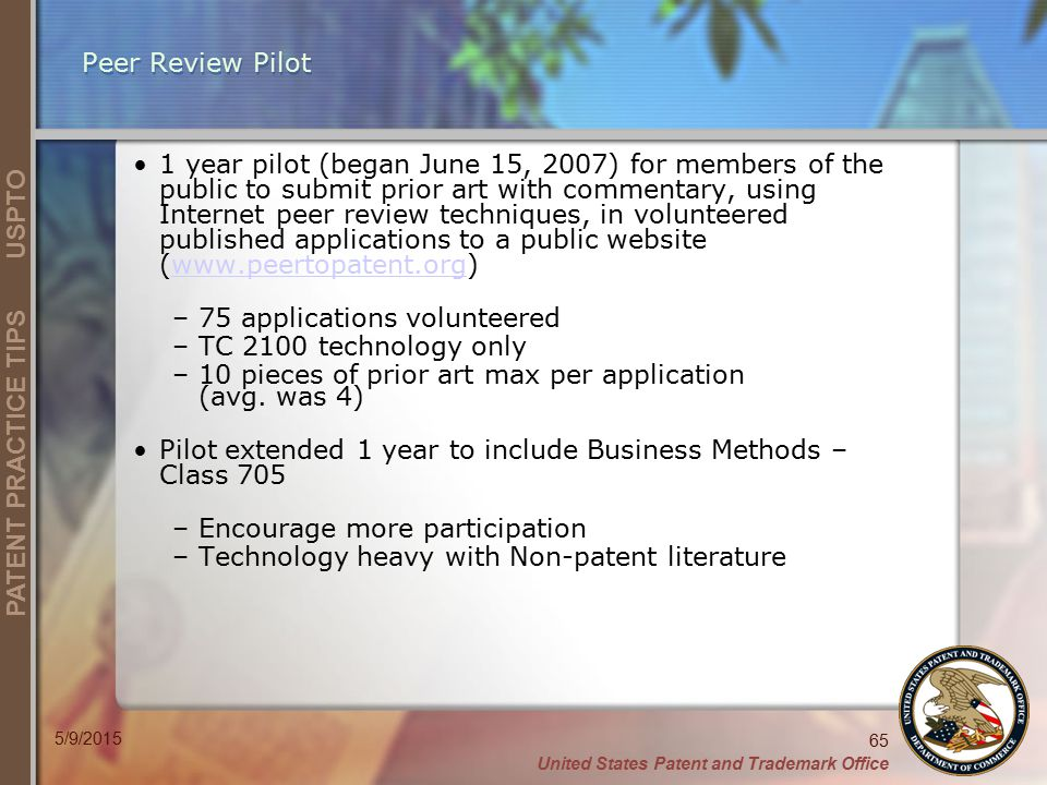 75 applications volunteered TC 2100 technology only