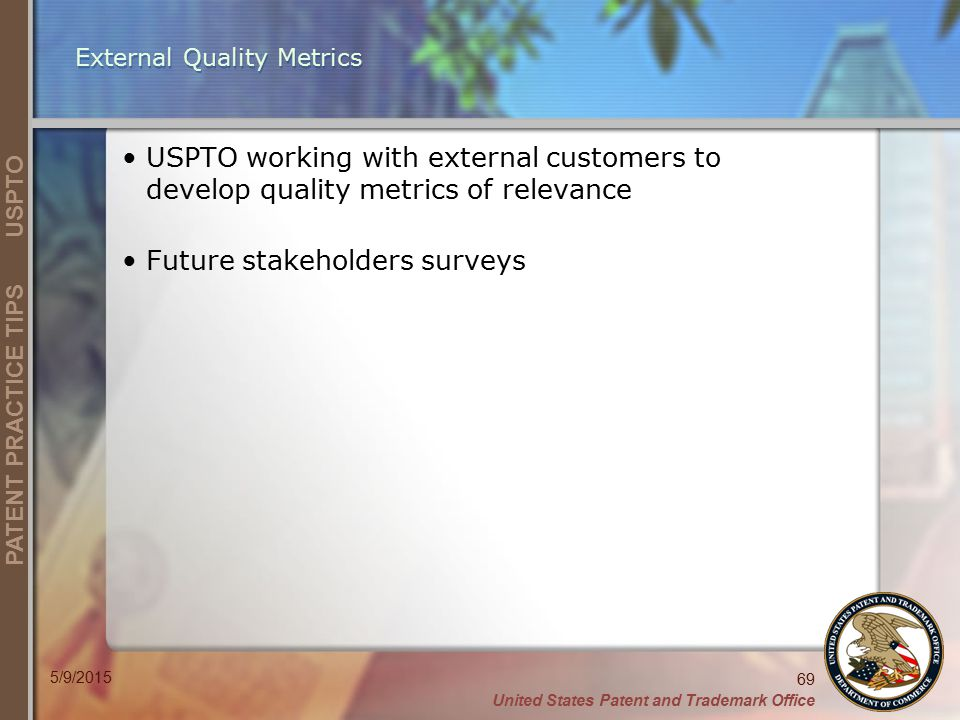 External Quality Metrics