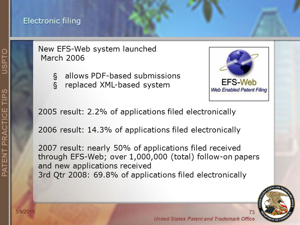 New EFS-Web system launched March 2006