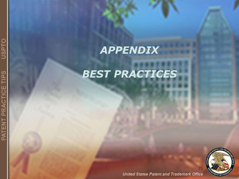 APPENDIX BEST PRACTICES