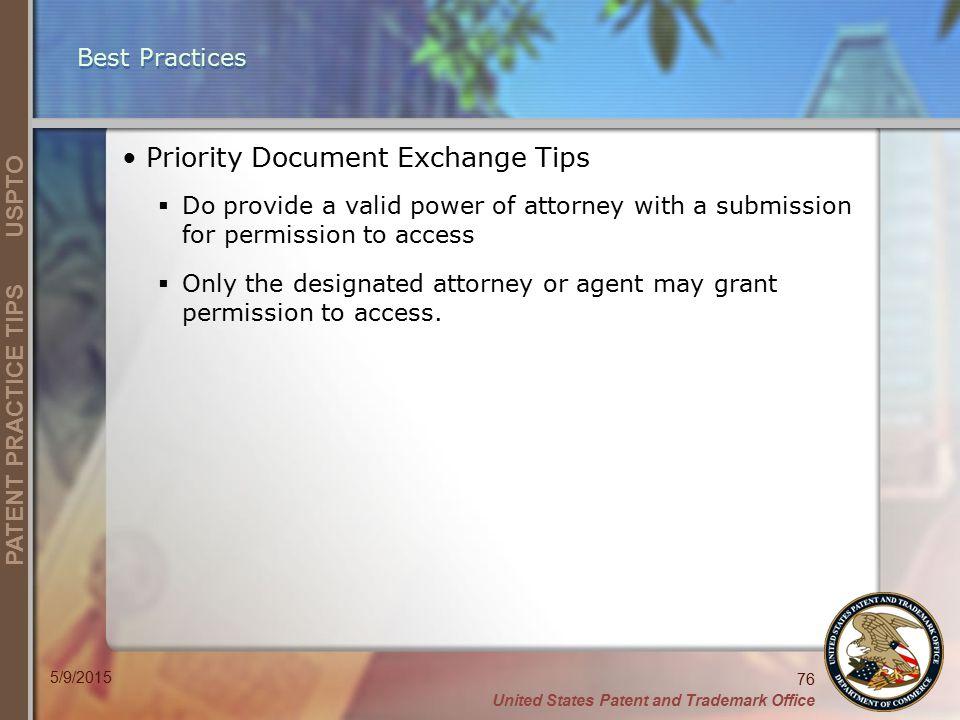 Priority Document Exchange Tips