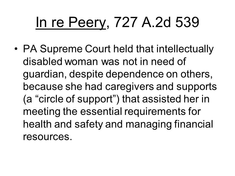 In re Peery, 727 A.2d 539