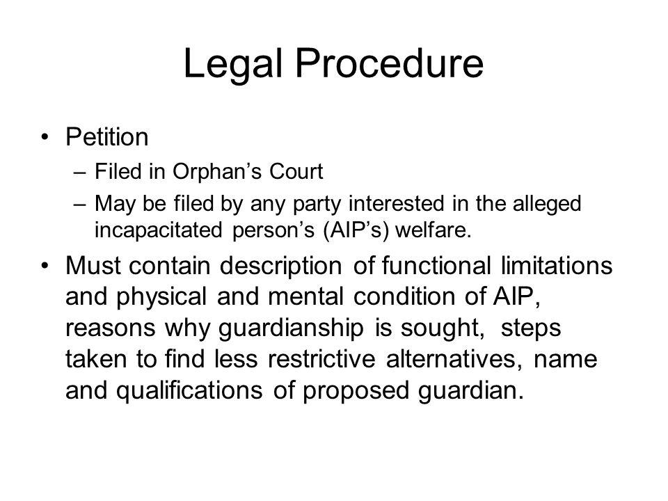 Legal Procedure Petition