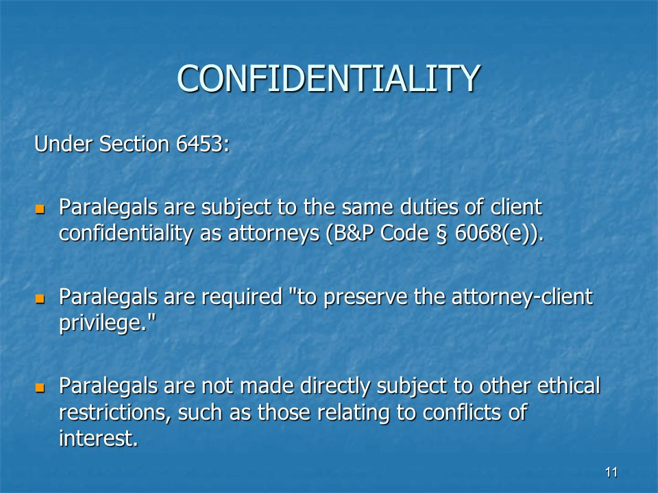 CONFIDENTIALITY Under Section 6453: