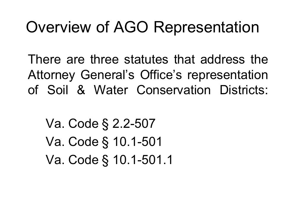 Overview of AGO Representation